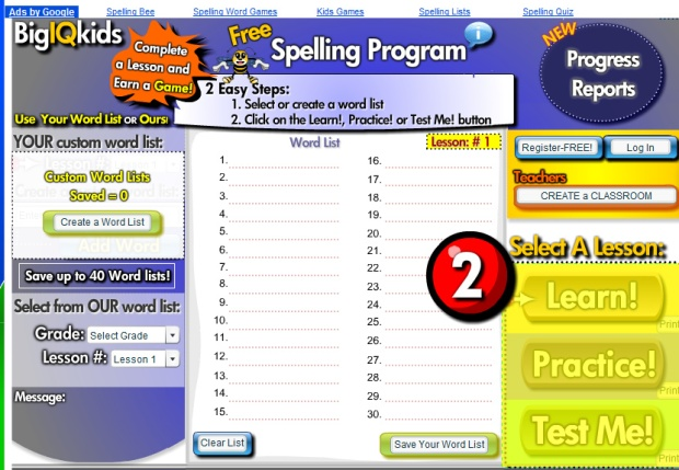 Free Online Spelling Games and Tests – missmernagh.com