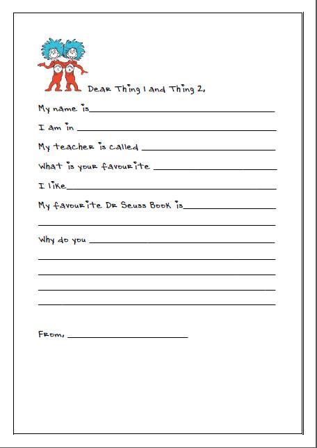 Letter Writing with Dr Seuss   missmernagh.com