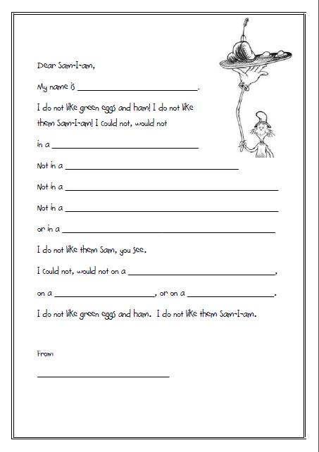 Even more Dr Seuss Letters ( but a little easier ...