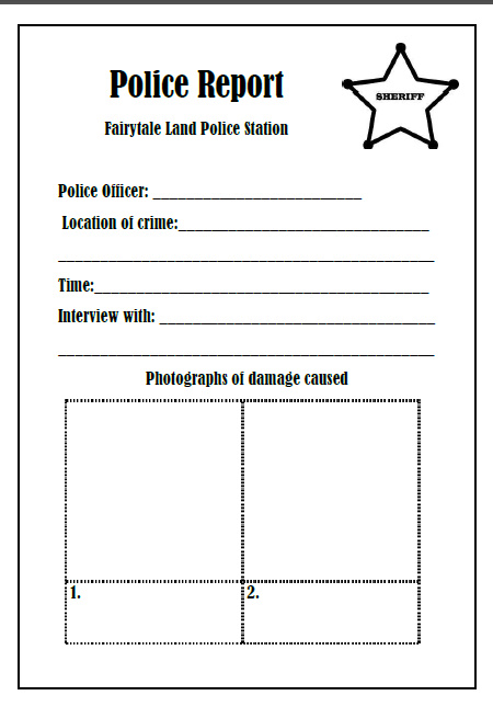 Letter Writing Template For Goldilocks And The  Bears