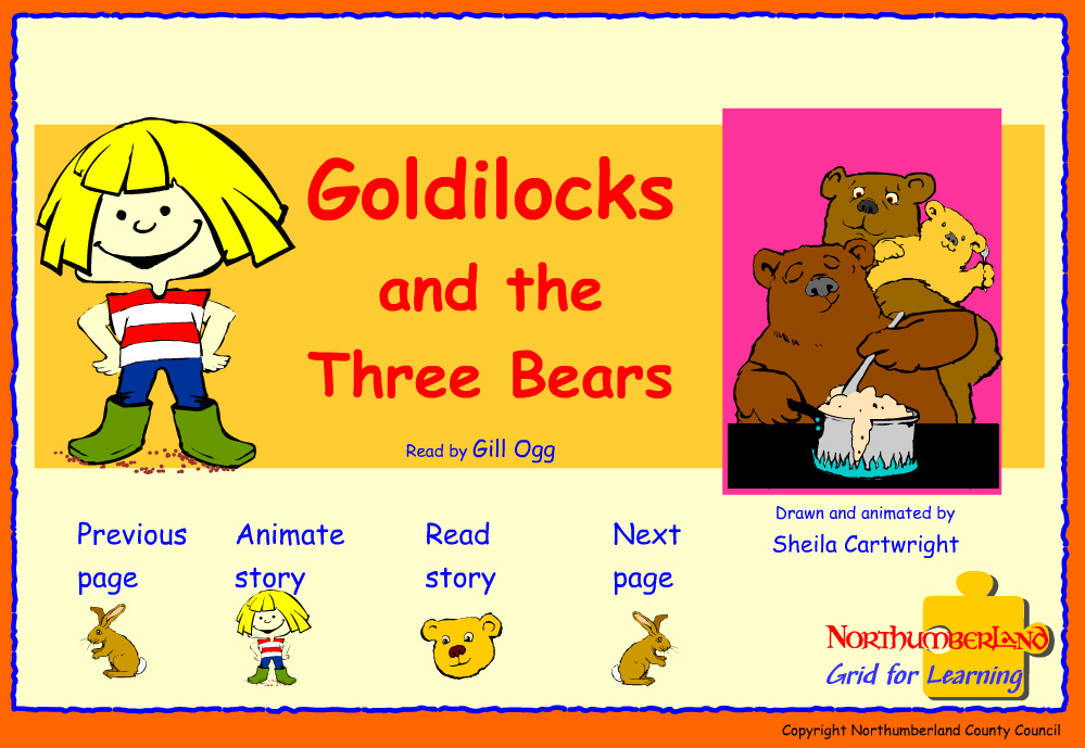 """godilicks and the bear essay Goldilocks and the three bears we worked with the fairy tale """"goldilocks and the three bears"""", the story of the three bears sometimes known as the three bears."""
