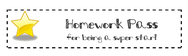 Homework pass clip art resume template for little work experience