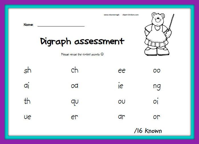 digraph printable worksheets
