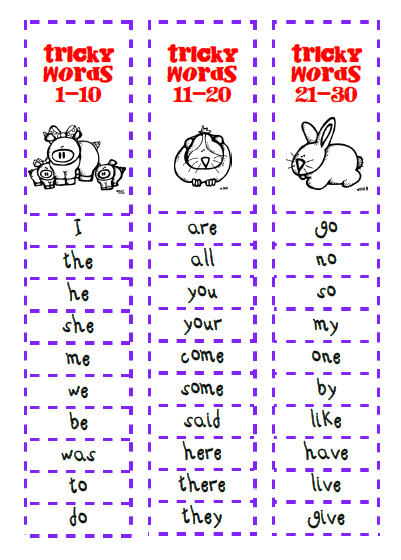 30 sight Words Phonics Jolly  song word Tricky like 1