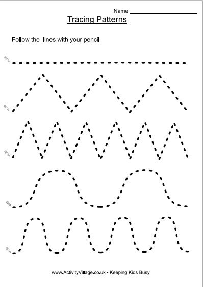 shape tracing templates - preparing for school pre writing printables