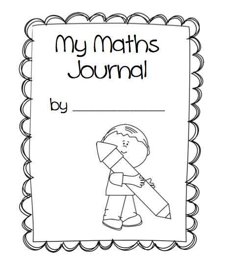 Kids Maths Book Cover : Kindergarten math journal cover missmernagh