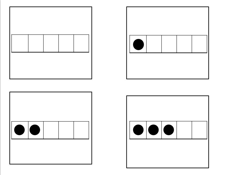 monthly maths 5 frame dice template