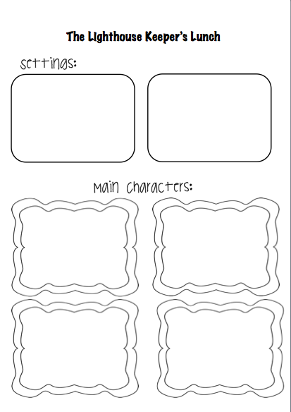 Lighthouse keepers lunch coloring book pages ~ The Lighthouse Keeper's Lunch   missmernagh.com